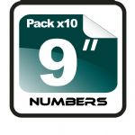 "9"" Race Numbers - 10 pack"